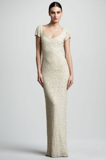 Theia Beaded Tulle Gown - Lyst