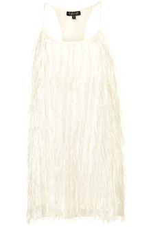 Topshop Fringe Racer Back Dress - Lyst