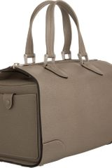 Valextra Medium Boston Bag in Brown (silver) - Lyst