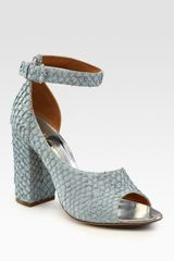 3.1 Phillip Lim Cody Perch Leather Dorsay Sandals in Animal (blue) - Lyst