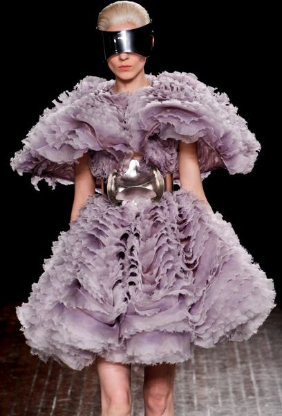 Alexander Mcqueen Fall 2012 Lavendar Multilayer Organza Mini Dress in Purple - Lyst