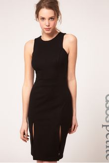 ASOS Collection Asos Petite Exclusive Pencil Dress with Double Split Detail - Lyst
