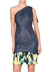 Bibhu Mohapatra One Shoulder Tussah Dress - Lyst