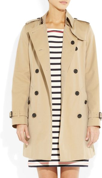 Burberry Cotton-gabardine Trench Coat - Lyst