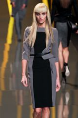 Elie Saab Fall 2012 Belted Colorblock Dress