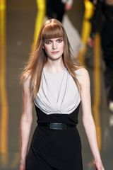 Elie Saab Fall 2012 Sleeveless DrapeFront Evening Gown in Black - Lyst