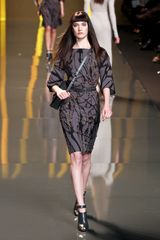 Elie Saab Fall 2012 Bronze Tree Branch Print Dress - Lyst