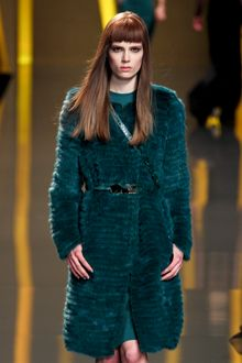 Elie Saab Fall 2012 Quilted Fur Coat  - Lyst