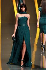 Elie Saab Fall 2012 Sleeveless Split-Front Evening Gown  - Lyst