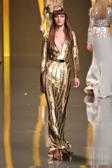 Elie Saab Fall 2012 Deep V-Neck Paillette Embellished Gown