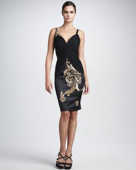 Julian Joyce By Mandalay Sleeveless Embellished Dress in Black