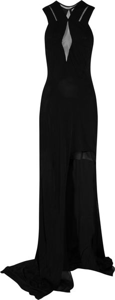 Julien Macdonald Suki Stretch-jersey and Mesh Gown - Lyst