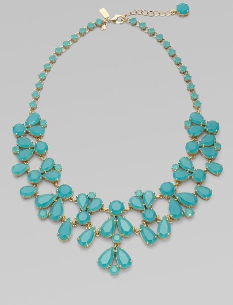 kate spade bib necklace in blue aqua lyst