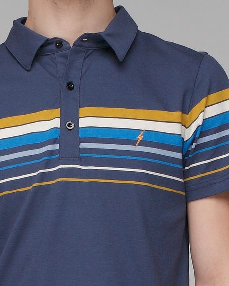Lightning Bolt Venice Poloshirt In Blue For Men Navy Lyst