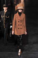 Louis Vuitton Fall 2012 Kangaroo Leather Skirt adorned with Gold Buttons - Lyst