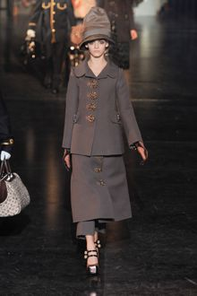 Louis Vuitton Fall 2012 Mid-Length Skirt with Brooch Buttons - Lyst