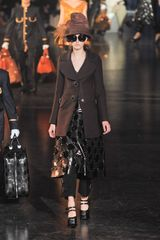 Louis Vuitton Fall 2012 Black Kangaroo Leather Swatch Patchworked Dress  in Black - Lyst
