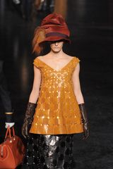 Louis Vuitton Fall 2012 Orange Kangaroo Leather V-Neck Top  - Lyst