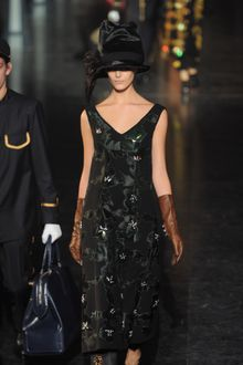 Louis Vuitton Fall 2012 Bead Embroidered Floral Appliqué Dress - Lyst