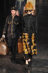 Louis Vuitton Fall 2012 Floral Button Detail Pants in Black - Lyst