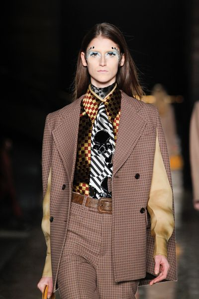 Miu Miu Fall 2012 Op Art Silk Tie in Black - Lyst