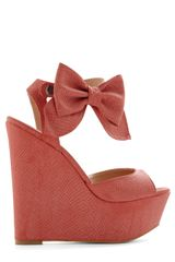 Modcloth Stylista Strut Wedge in Pink (coral) - Lyst