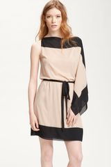 Robert Rodriguez Colorblock Cascade Sleeve Dress - Lyst
