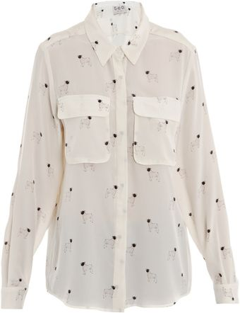 Sea Dog-print Blouse - Lyst