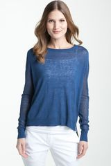 Theory Adiel - Sag Harbor Mesh Panel Sheer Sweater - Lyst