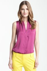 Theory Deronisa - Poignant Sleeveless Matte Silk Top - Lyst