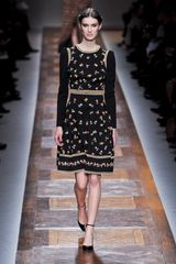 Valentino Fall 2012 Floral Printed Dirndl Dress