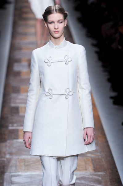 Valentino Fall 2012 PussyBow Blouse  in White - Lyst