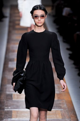 Valentino Fall 2012 Knee-Length Formal Black Dress with Bell Sleeves  - Lyst