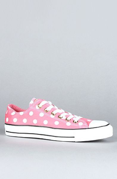 Converse The Bleach Polka Dot Chuck Taylor All Star Sneaker in Pink in Pink - Lyst