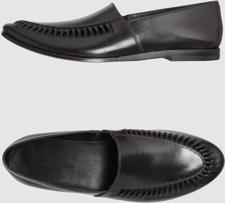 Giorgio Armani Moccassins in Brown for Men - Lyst