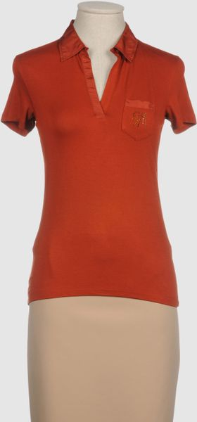 Guess Polo Shirt in Brown (rust) - Lyst
