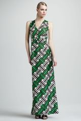 Milly Caroline Belted Maxi Dress - Lyst