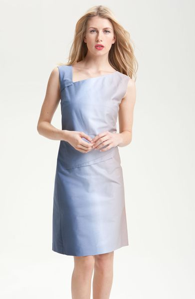 Rachel Roy Ombré Asymmetrical Dress in Blue (indigo multi) - Lyst