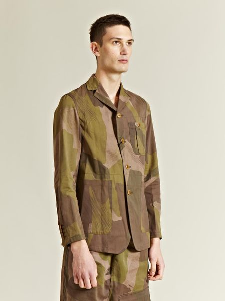 Nigel Cabourn Mens Camouflage Tenzig Jacket In Khaki For