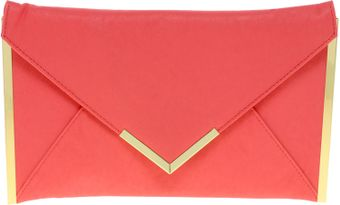 Asos Metal Bar Detail Envelope Clutch - Lyst