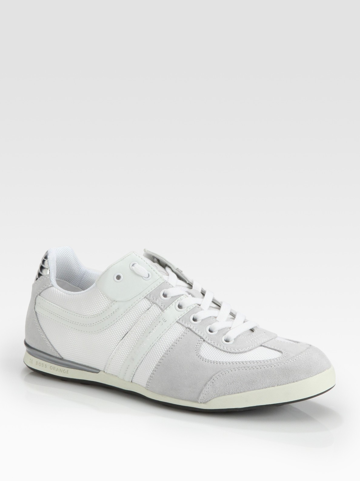 boss orange keelo i sneakers in white for men lyst. Black Bedroom Furniture Sets. Home Design Ideas