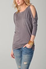 C&c California Cutout Shoulder Dolman Top - Lyst