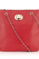 DKNY French Grain Leather Crossbody Bag - Lyst