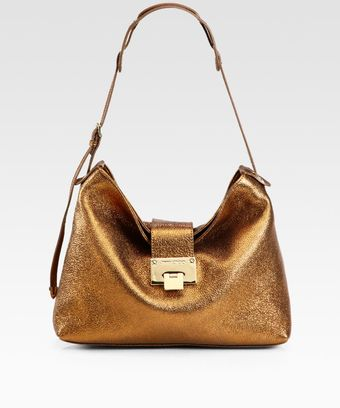 Jimmy Choo Rachel Glitter Metallic Leather Shoulder Bag - Lyst