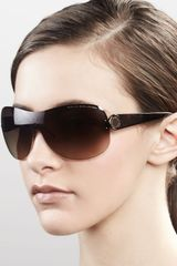 Marc By Marc Jacobs Shield Sunglasses, Brown Havana - Lyst