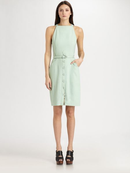 Proenza Schouler Silk Dress in Blue (aqua) - Lyst