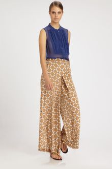 Tibi Nadia Wide-leg Silk Pants - Lyst
