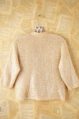Free People Vintage Sequin Sweater in Beige - Lyst