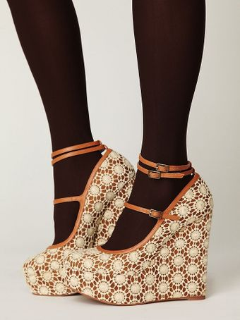Free People Cambridge Crochet Platform - Lyst