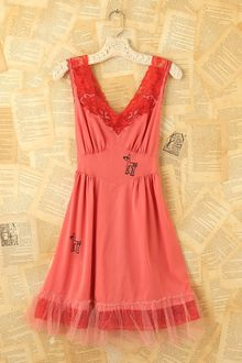 Free People Vintage Pink Slip Dress - Lyst